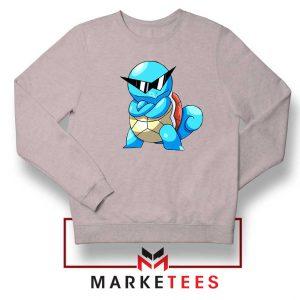 Squirtle Shades Pokemon Grey Sweatshirt