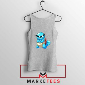 Squirtle Shades Pokemon Grey Tank Top