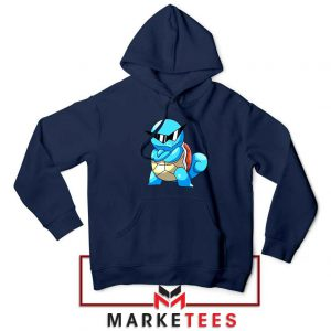 Squirtle Shades Pokemon Navy Blue Hoodie