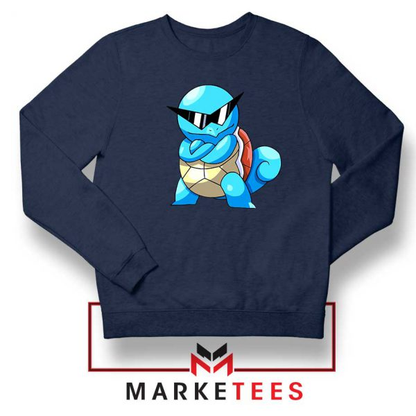 Squirtle Shades Pokemon Navy Blue Sweatshirt