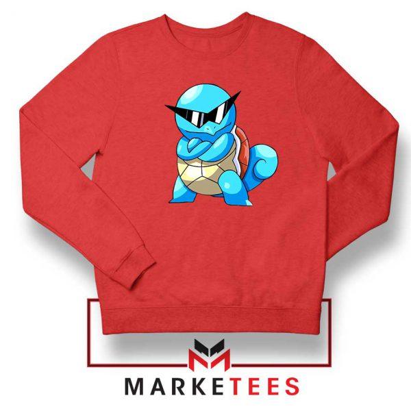 Squirtle Shades Pokemon Red Sweatshirt