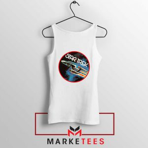 Star Trek Enterprise Space White Tank Top