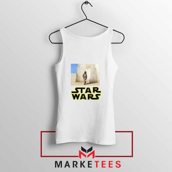 Star Wars Anakin Skywalker White Tank Top