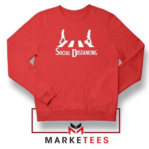 The Beatles Social Distancing Red Sweatshirt