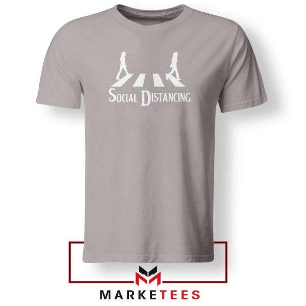 The Beatles Social Distancing Sport Grey Tshirt