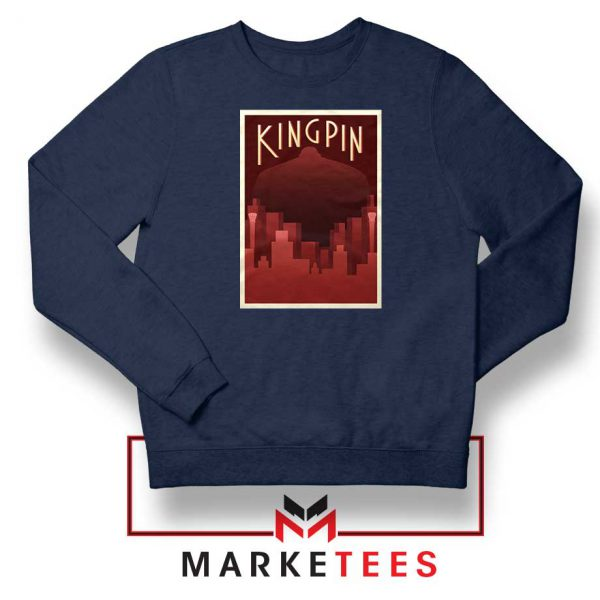 Wilson Fisk Kingping Navy Blue Sweatshirt