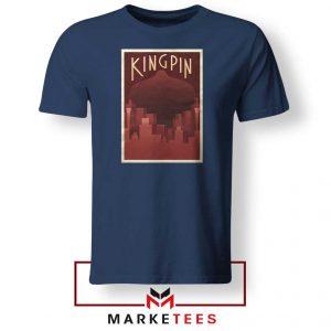 Wilson Fisk Kingping Supervillain Navy Blue Tshirt