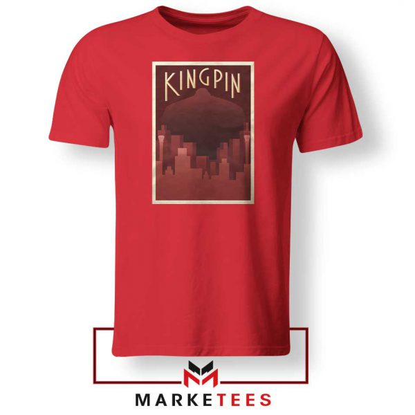Wilson Fisk Kingping Supervillain Red Tshirt