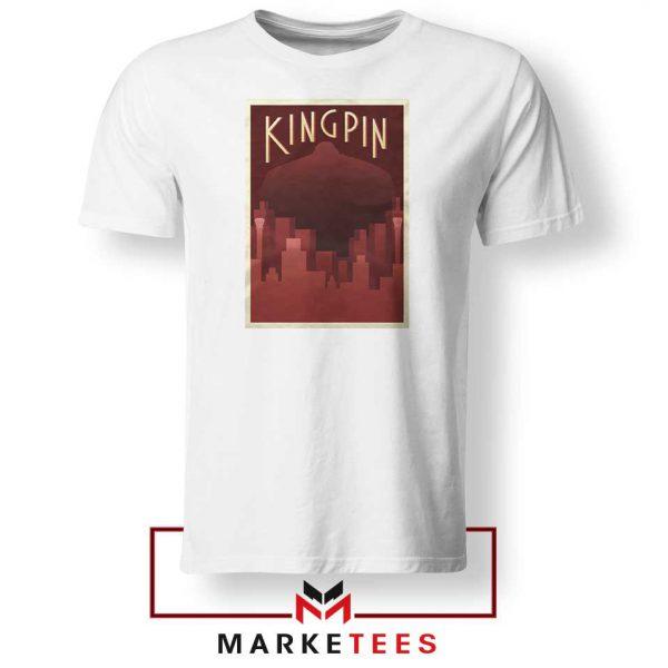 Wilson Fisk Kingping Supervillain White Tshirt