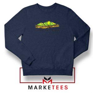 Avocado Toast Mountains Navy Blue Sweatshirt