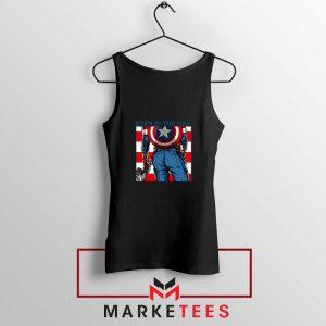 Captain America Ass Hero Black Tank Top