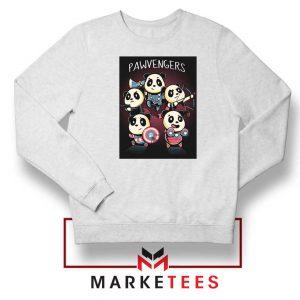 Pawvengers Marvel Superheroes White Sweatshirt