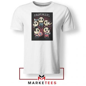 Pawvengers Marvel Superheroes White Tshirt