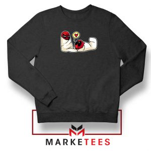 Spideypool Mutant Superheroes Black Sweatshirt