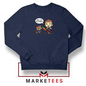 Superhero Team Infinity War Navy Blue Sweatshirt