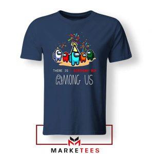 Among Us Gaming Birthday Navy Blue Tshirt