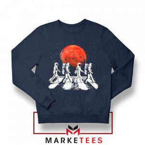 Astronaut Abbey Road Parody Navy Blue Sweatshirt