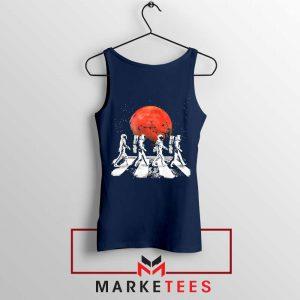 Astronaut Abbey Road Parody Navy Blue Tank Top