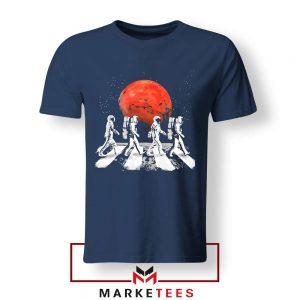 Astronaut Abbey Road The Beatles Navy Blue Tshirt