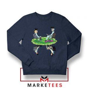 Breaking Bad Rick Morty Jesse Navy Blue Sweatshirt