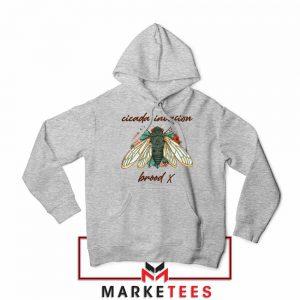 Brood X Cicada Invasion USA 2021 Sport Grey Hoodie
