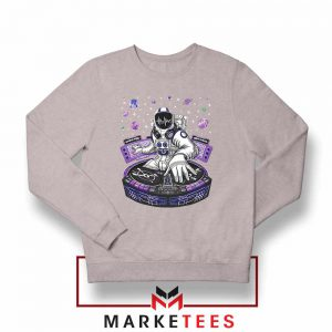 Buy Funny Astronaut DJ Grey Sweatshirt