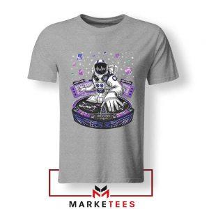 Buy Funny Astronaut DJ Music Grey Tshirt