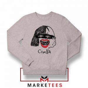 Cruella Look Fabulous Girls Grey Sweatshirt