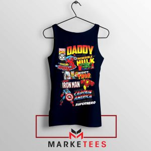 Daddy You Are Incredible Hero Navy Blue Tank Top