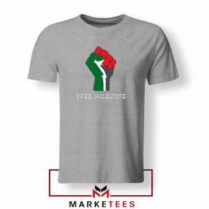 Free Palestine Rise Your Hand Sport Grey Tshirt