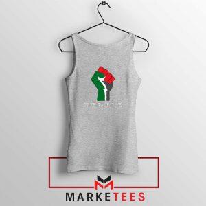 Free Palestine Rise Your Hand Sport GreyTank Top