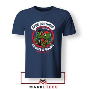 Frog brothers Lost Boys Horror Film Navy Blue Tshirt
