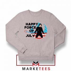 Happy Force Of July Starwars Grey Sweatshirt