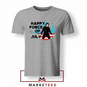 Happy The Force Of July Star Wars Sport Grey Tshirt