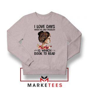 Womens Book Librarian Lover Sport Grey Sweatshirt