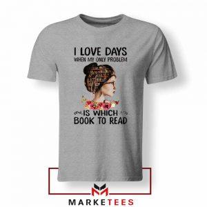 Womens Book Librarian Lover Sport Grey Tshirt