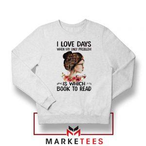 Womens Book Librarian Lover Sweatshirt