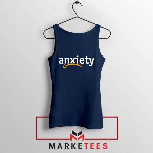 Anxiety E Commerce Logo Navy Blue Tank Top