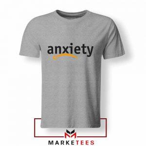 Anxiety E Commerce Logo Sport Grey Tshirt