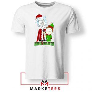 Bad Santa Sitcom Christmas White Tshirt