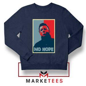 Boogeyman Horror No Hope Navy Blue Sweater