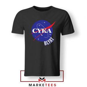 Cyka Blyat Nasa Black Tshirt