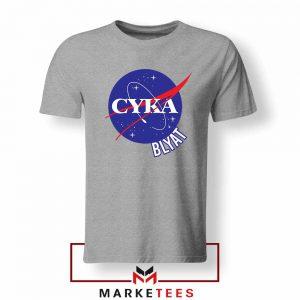 Cyka Blyat Nasa Sport Grey Tshirt