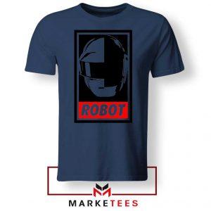 Daft Punk Dance Music Navy Blue Tshirt