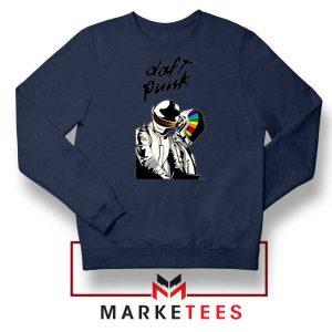 Daft Punk Music Duo Graphic Navy Blue Sweatshirt