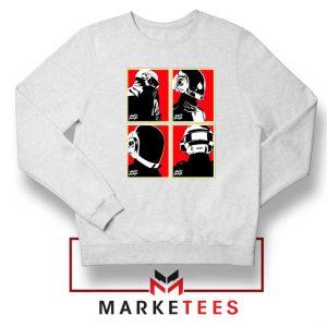 Daft Punk Music Duo Helmets White Sweater