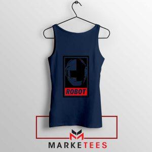 Daft Punk Music Robot Navy Blue Tank Top
