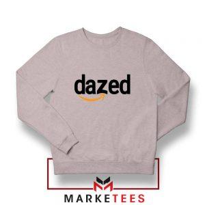 Dazed Smile Logo Sport Grey Sweatshirt