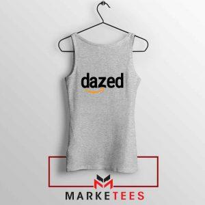 Dazed Smile Logo Sport Grey Tank Top