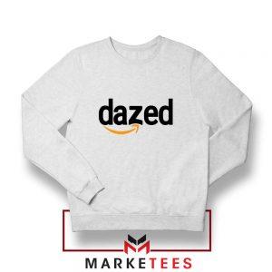 Dazed Smile Logo White Sweatshirt